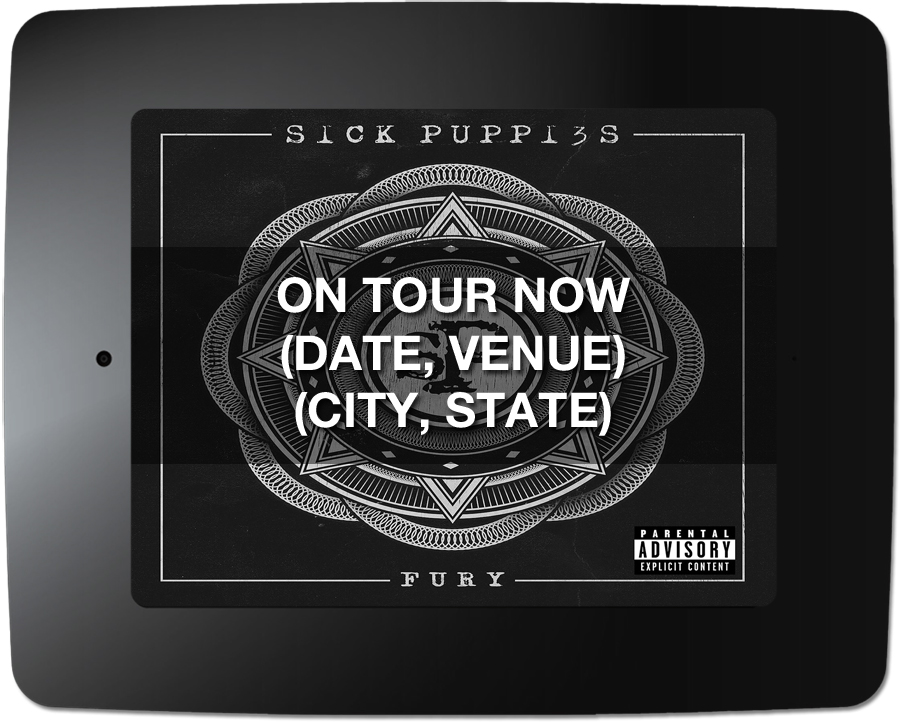 Sick Puppies - Kiosk Screen Saver - Tour Support