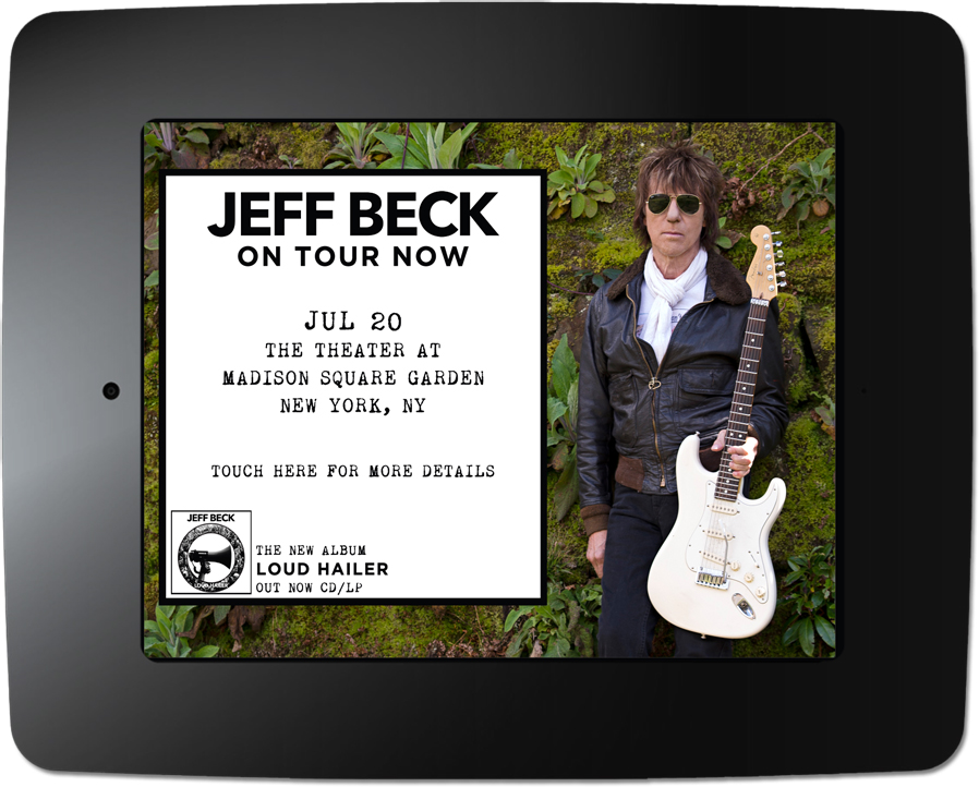 Jeff Beck - Kiosk Screen Saver - Tour Date