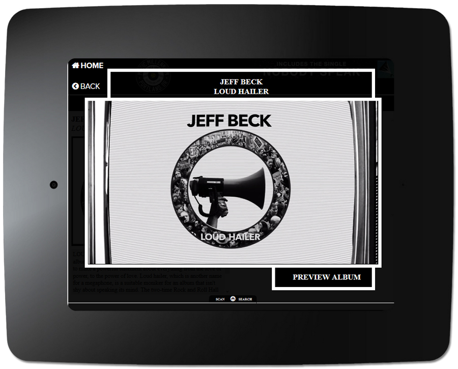 Jeff Beck - Kiosk Item With Video