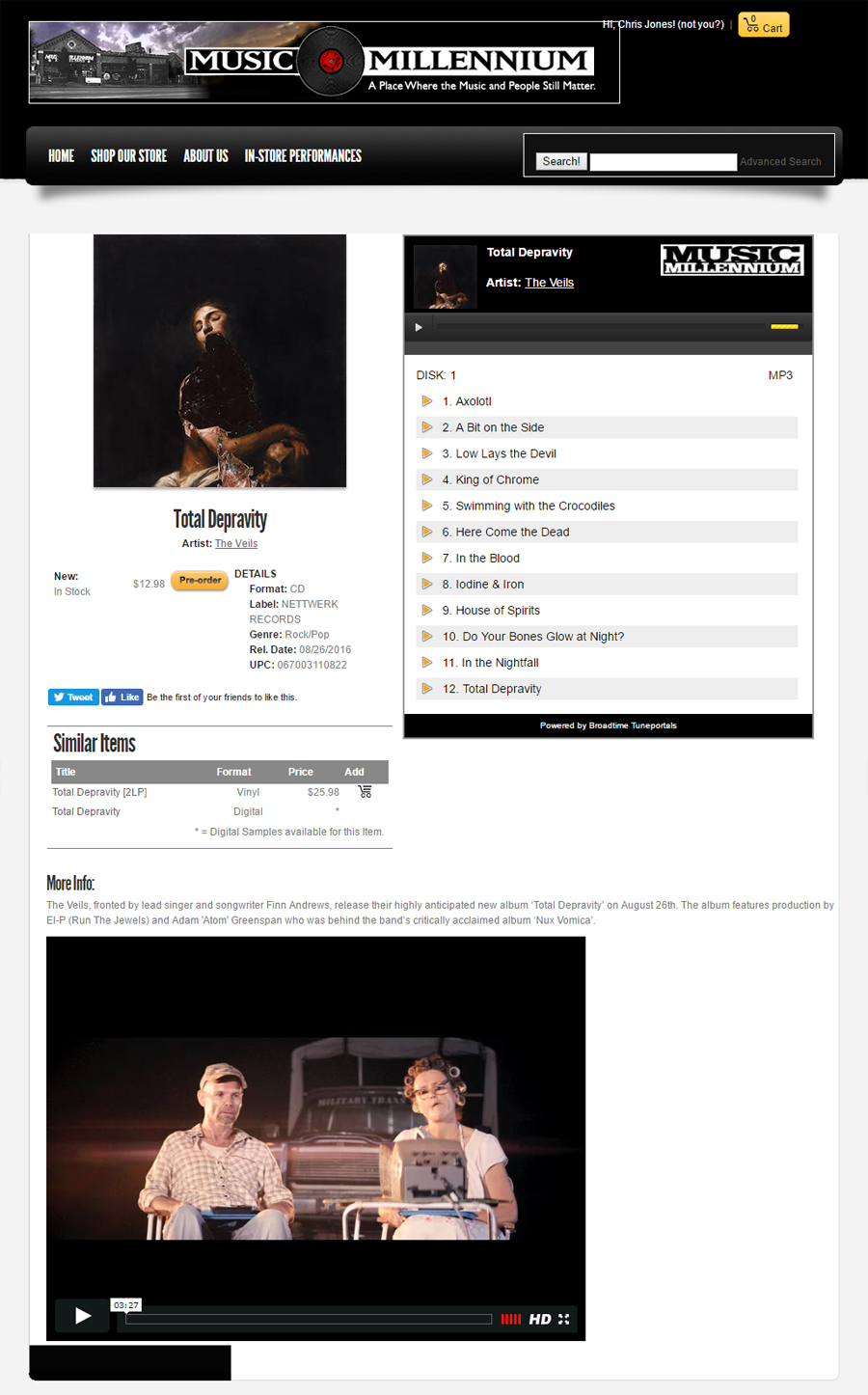 The Veils - Item Page