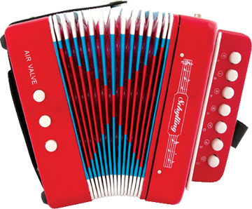 Accordian - Red