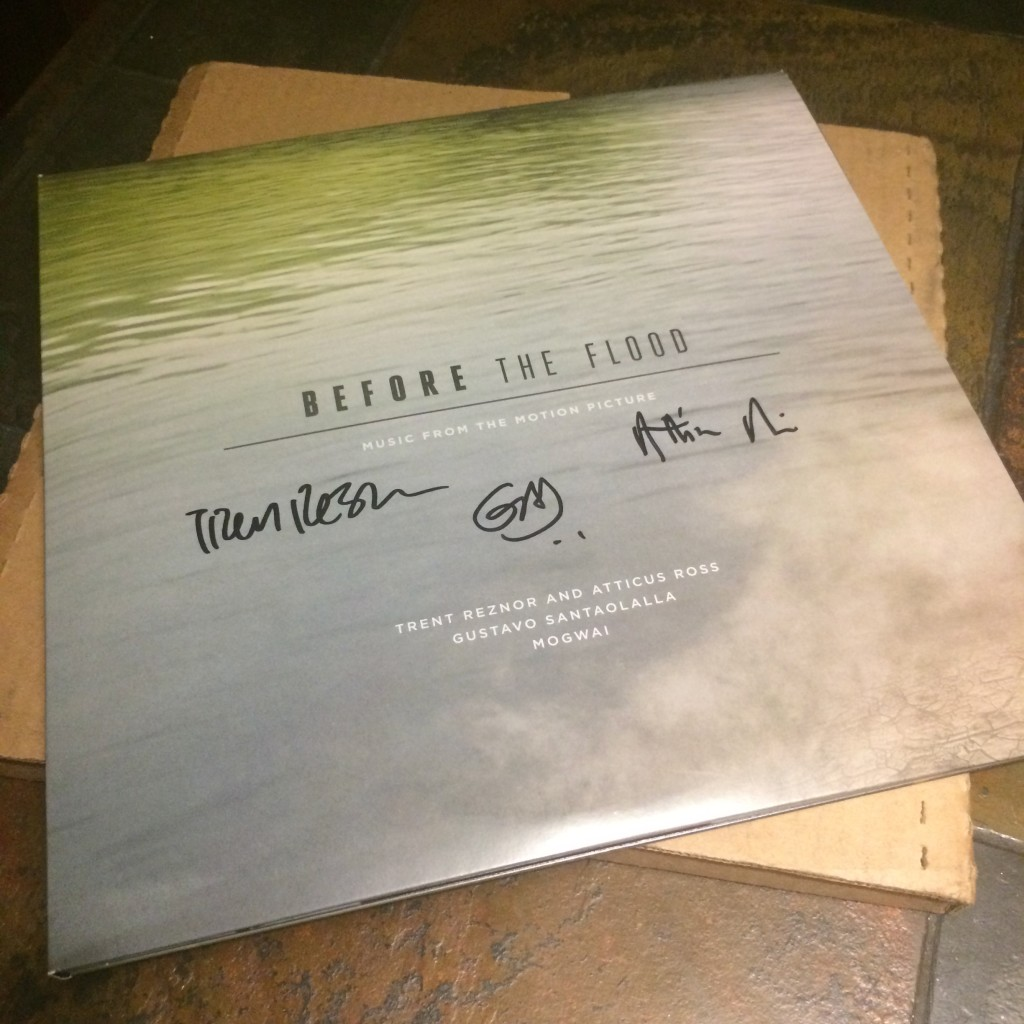 "Autographed ""Before The Flood"" (Music From The Motion Picture) Featuring: Trent Reznor & Atticus Ross, Gustavo Santaolalla"