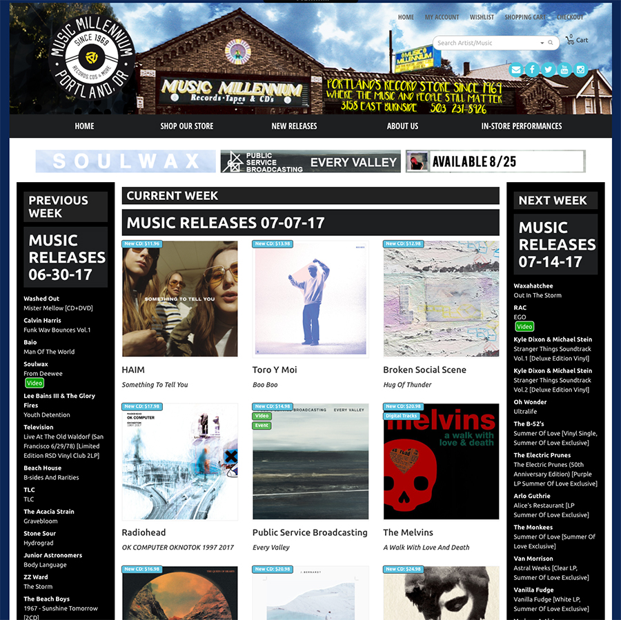 Public Service Broadcasting - New Release Page