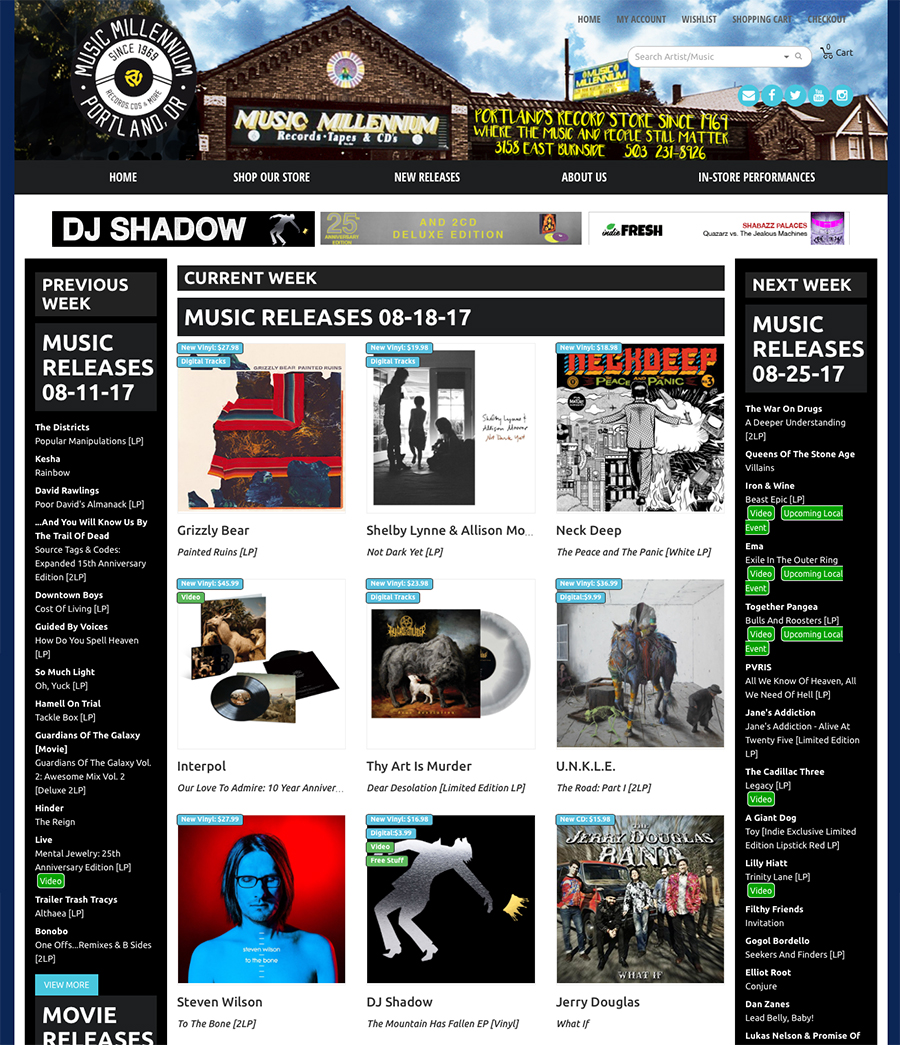 DJ Shadow - New Release Page