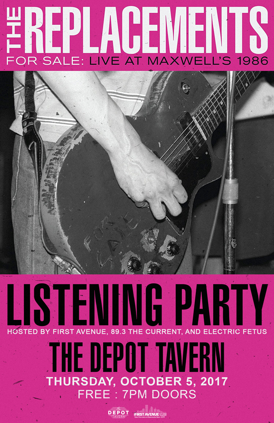 The Replacements Listening Party at The Depot Tavern (Band Not Included)