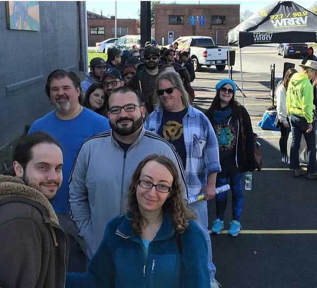 Record Store Day line at darkside records