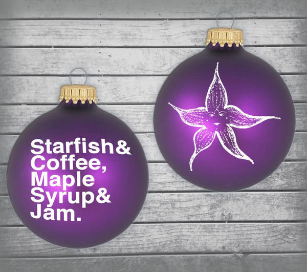 Starfish & Coffee Ornament now available
