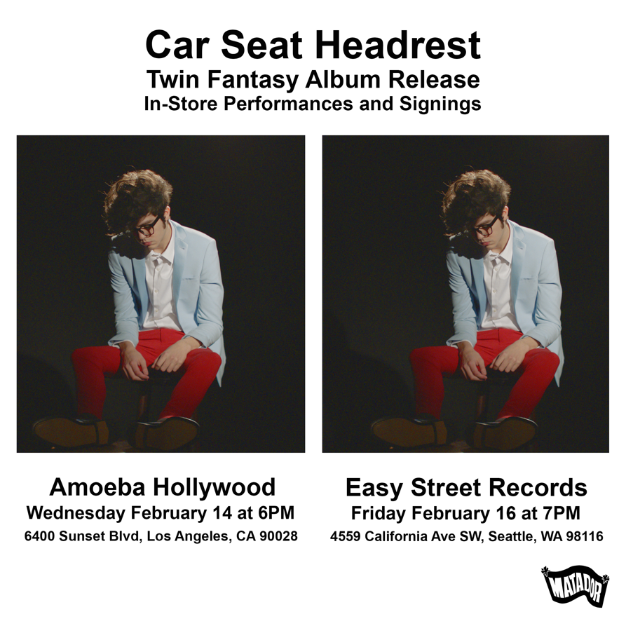 Join us on Friday, February 16th, 7pm, as we celebrate the release of Car  Seat Headrest's new album, Twin Fantasy at Easy Street with a special street  date ...