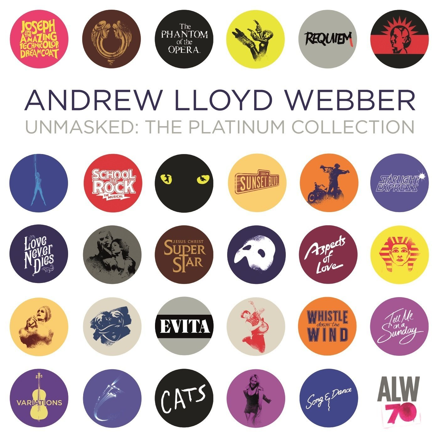 Andrew Lloyd Webber - Unmasked: The Platinum Collection [2CD]