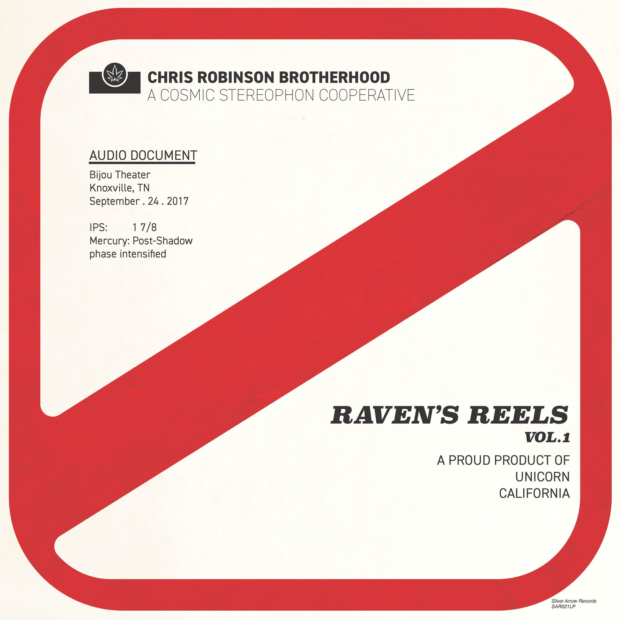 Chris Robinson Brotherhood - Raven's Reels--Knoxville