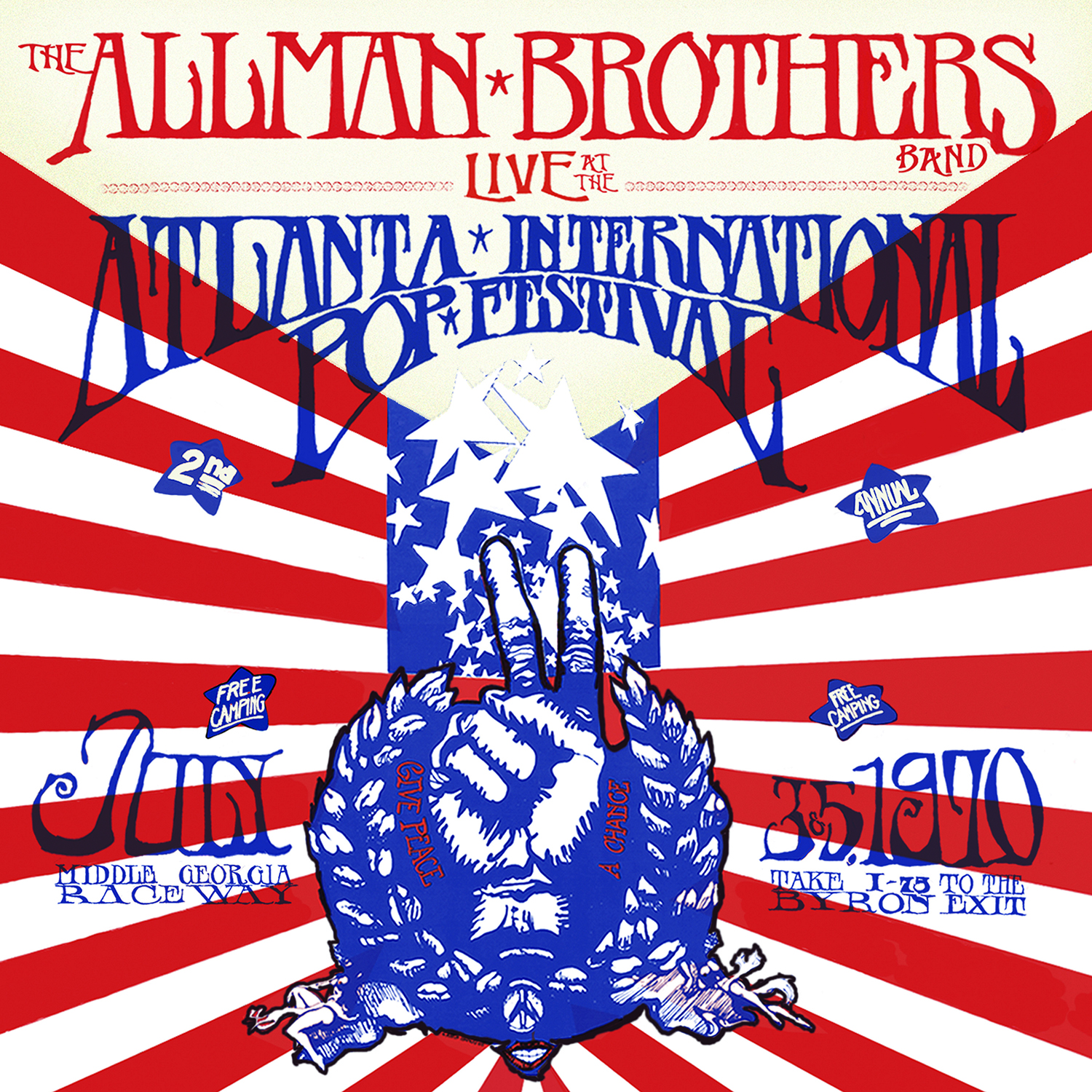 The Allman Brothers Band - Live At The Atlanta Pop Festival, July 3 & 5, 1970