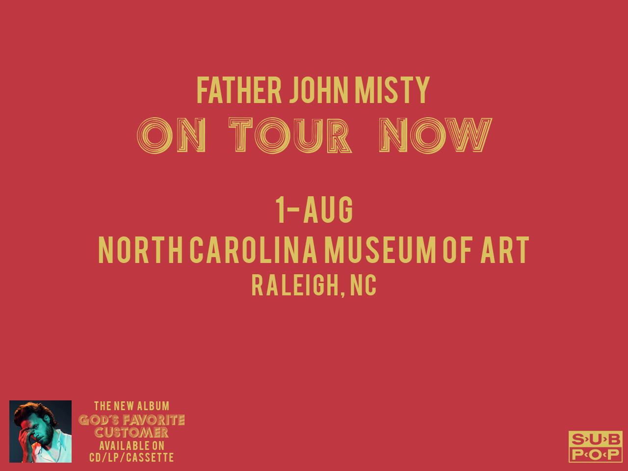 Father John Misty - Kiosk Screen Saver - Tour Date