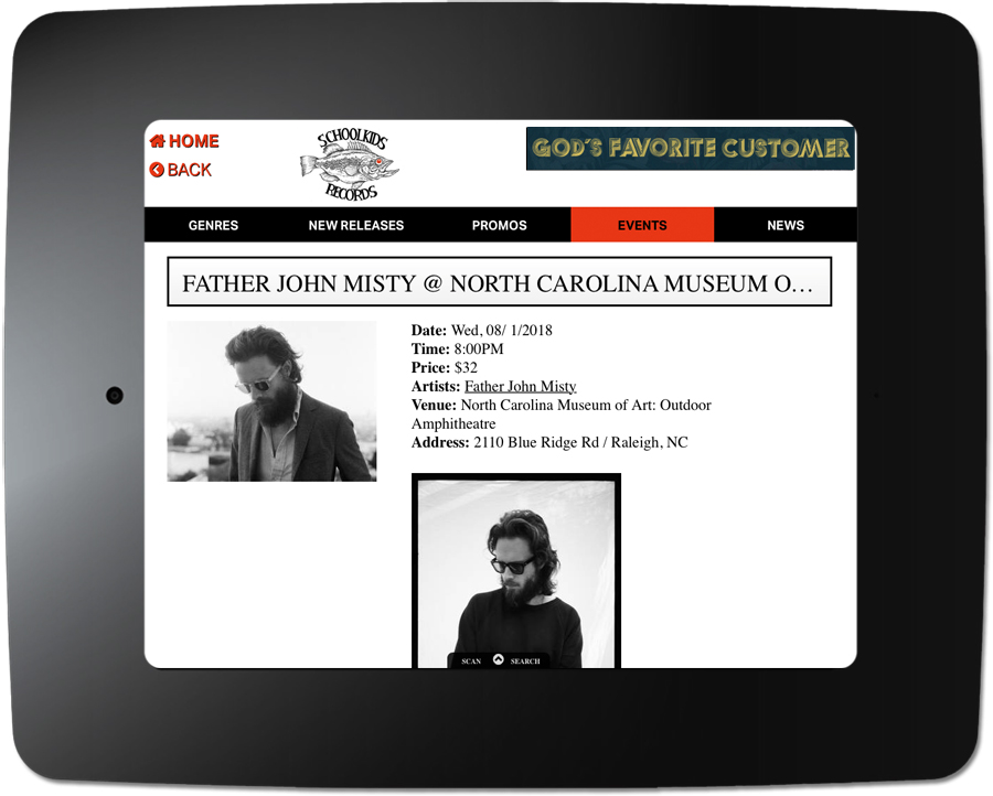 Father John Misty - Kiosk Event Page