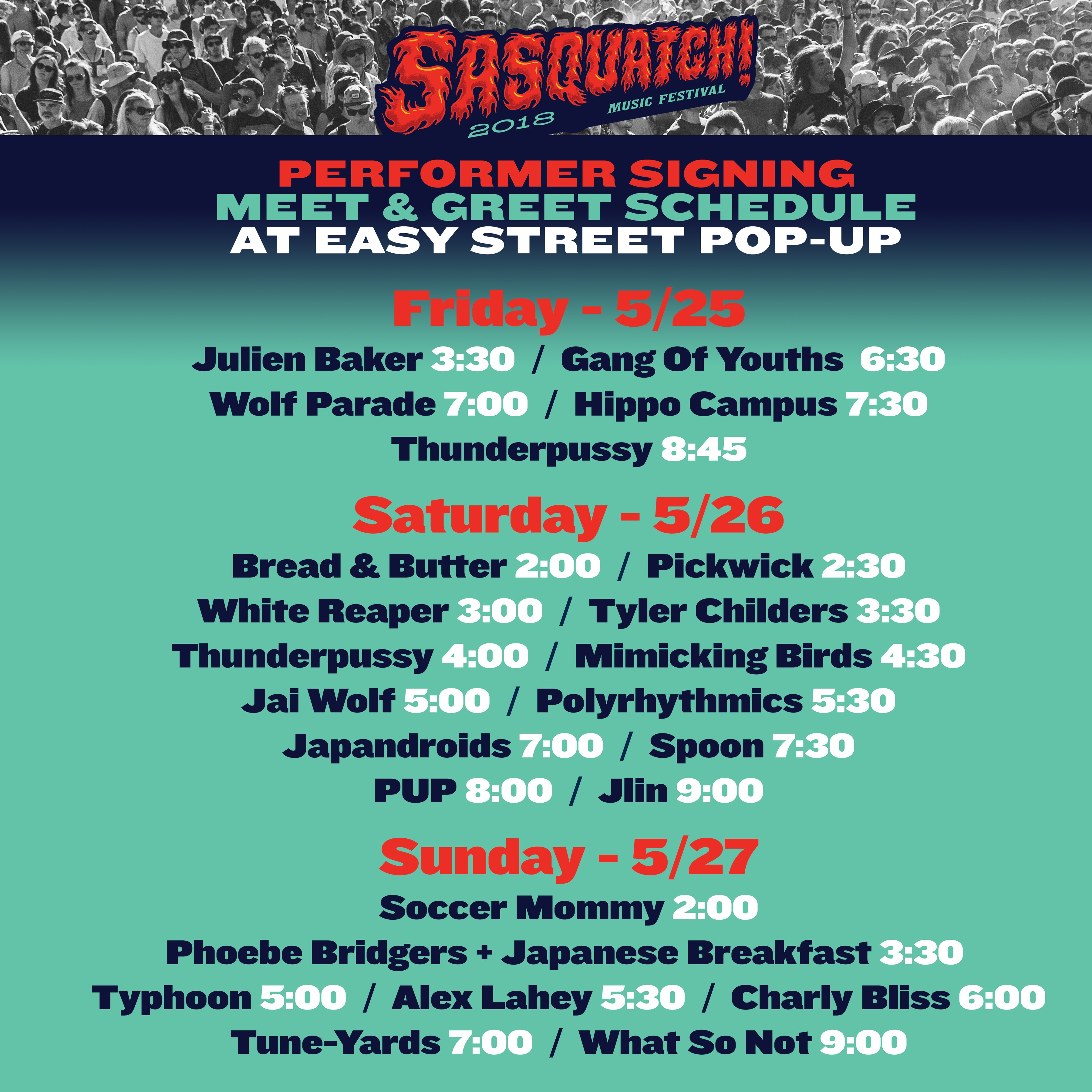 Our favorite music festival starts this Friday and the magic will continue  throughout Memorial Day Weekend at the Gorge! Easy Street is proud to be  the ...