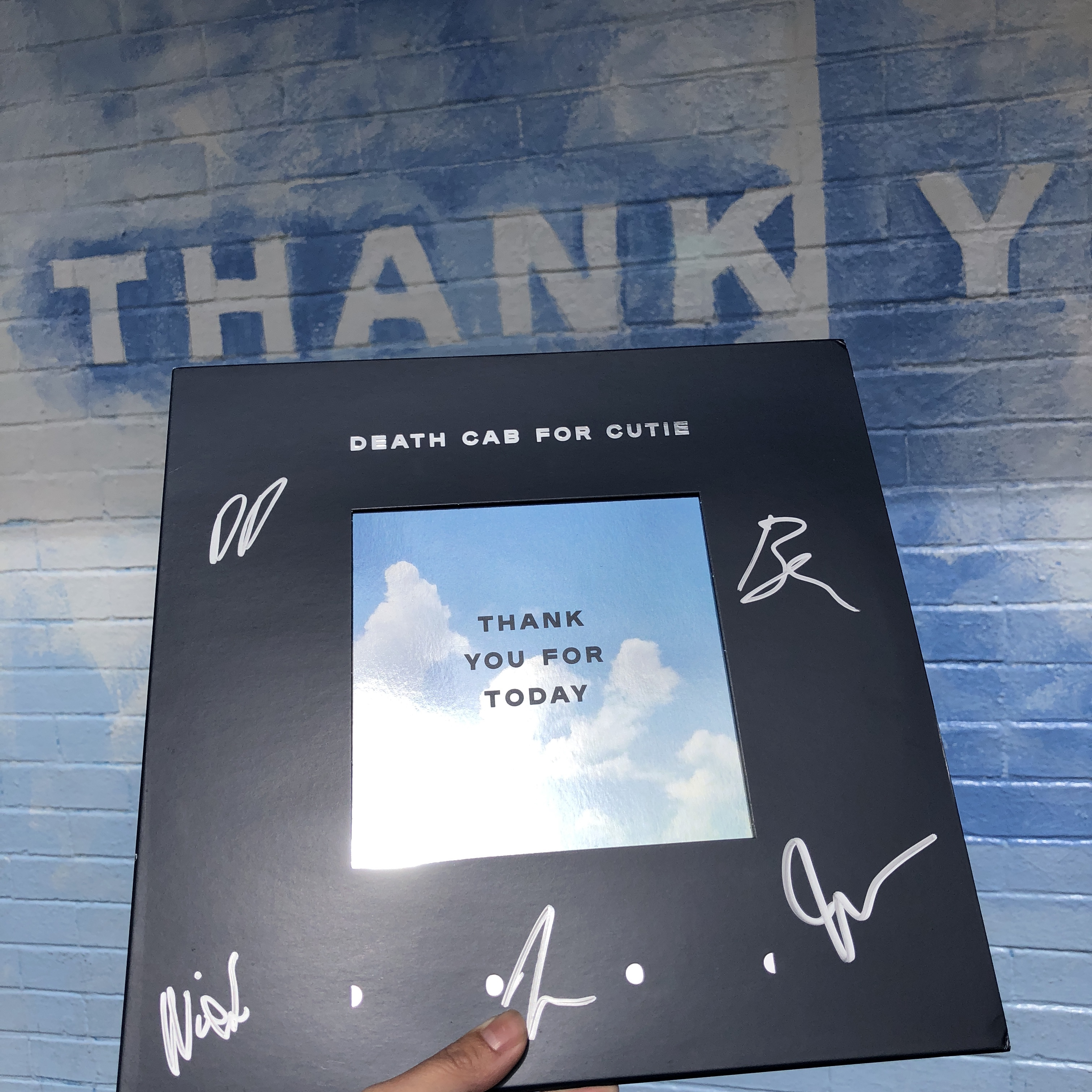 Weve Got A Signed Copy Of Death Cab For Cuties New Album Thank You Today To Giveaway One Lucky Winner Could It Be