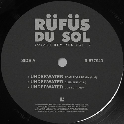 Rufus Du Sol - Solace: Remixes Vol. 2 -Single