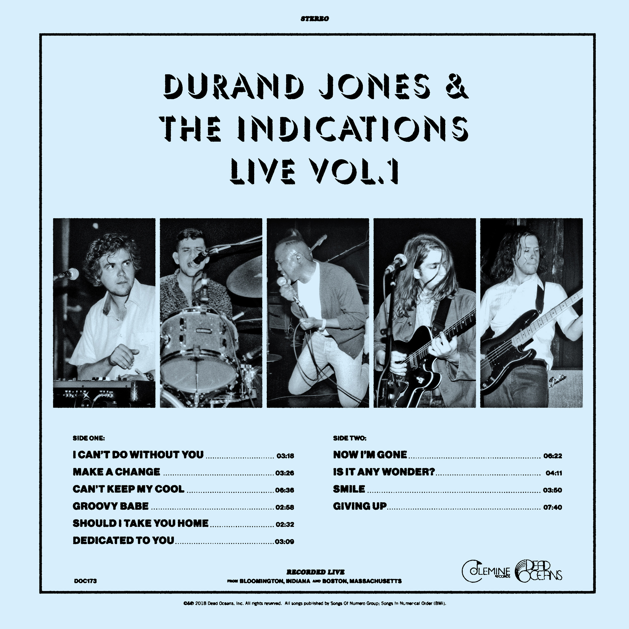 Durand Jones & The Indications - Durand Jones & The Indications Live Vol. 1