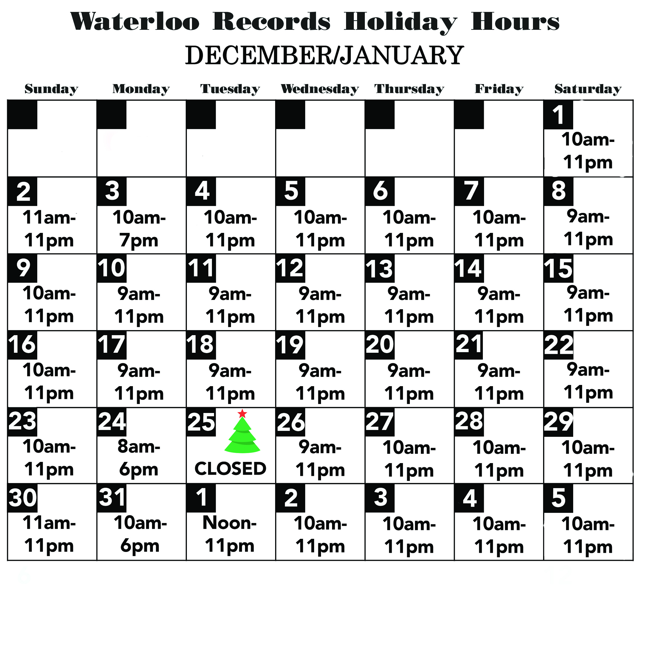 Store Info | Waterloo Records