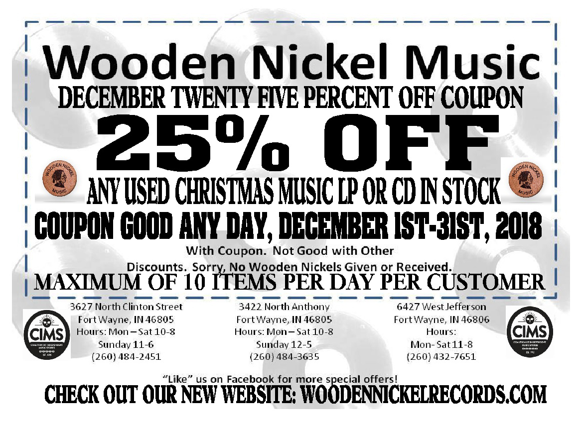 2018 Wooden Nickel Records December 25% Off Used Christmas Music ...