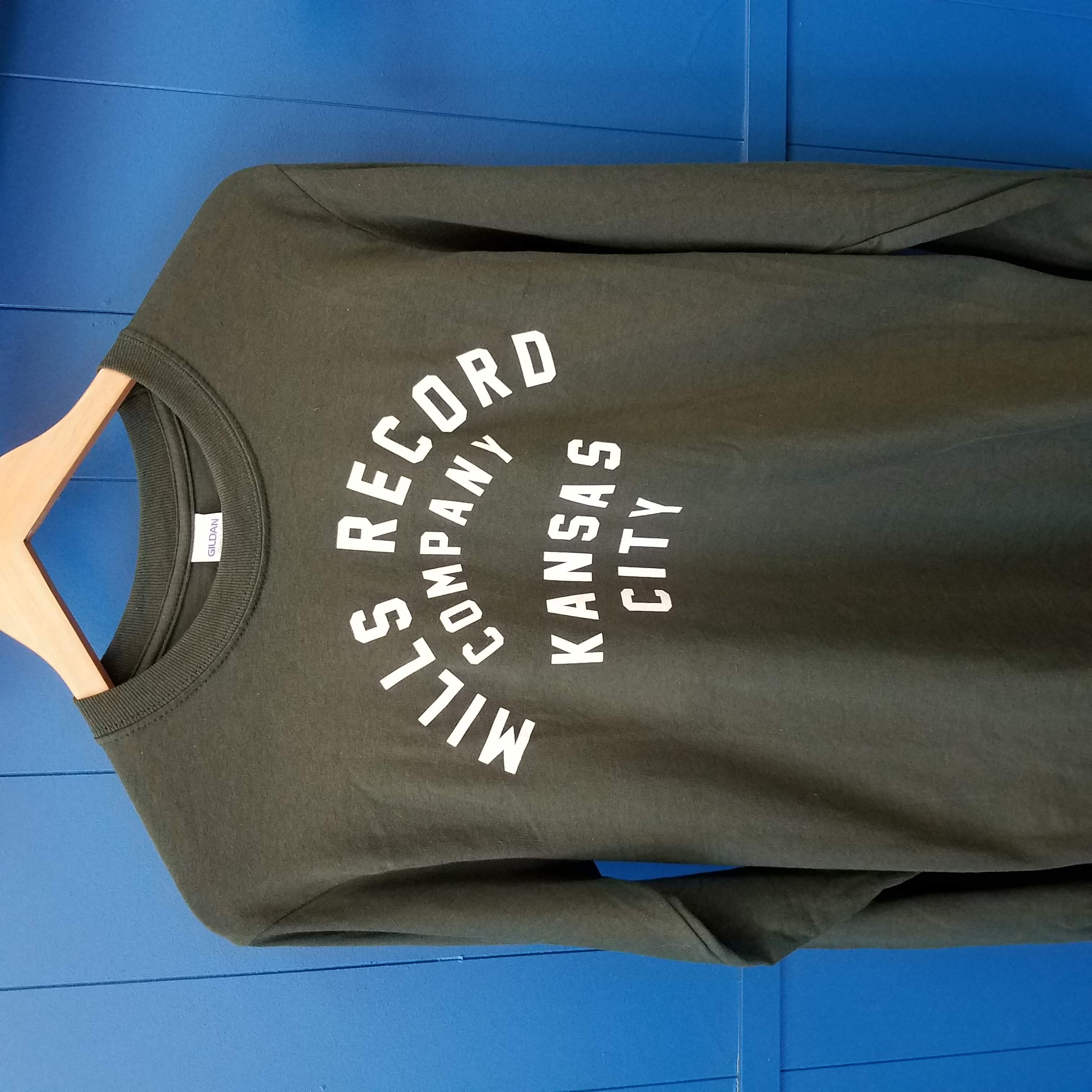 - Long Sleeve Text T [Green] [Small]