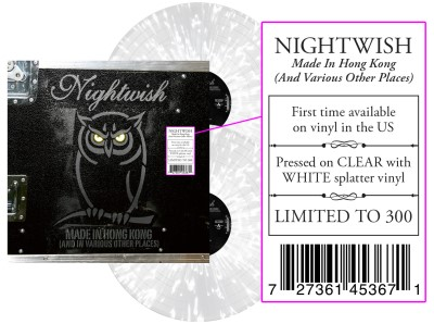 Nightwish - Made In Hong Kong (And In Various Other Places) [Indie Exclusive Limited Edition Clear / White Splatter LP]