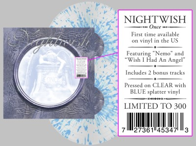 Nightwish - Once [Indie Exclusive Limited Edition Clear / Blue Splatter LP]