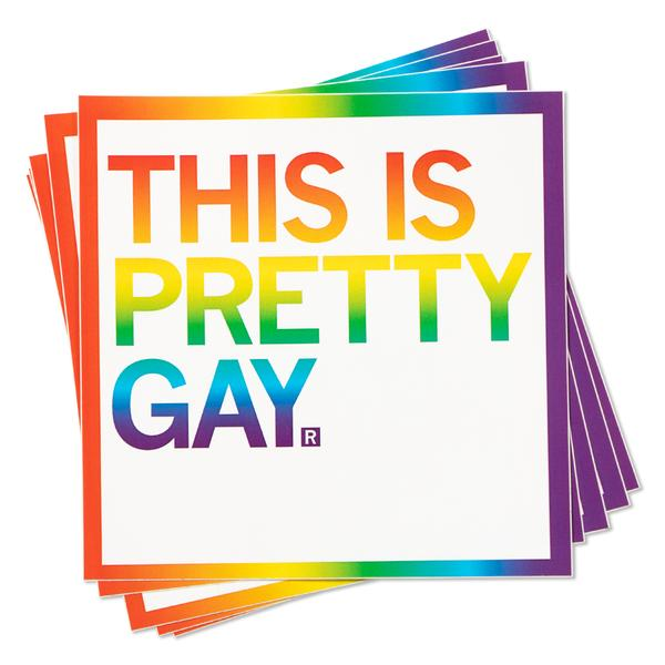 Strictly Discs - This Is Pretty Gay Sticker