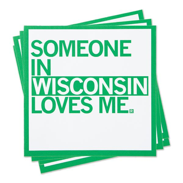 Strictly Discs - Someone In Wisconsin Loves Me Sticker