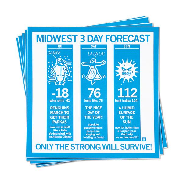 Strictly Discs - Midwest 3 Day Forecast Sticker