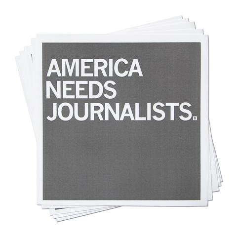Strictly Discs - America Needs Journalists Stickers