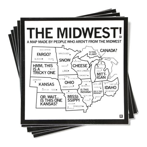 Strictly Discs - The Midwest Map Sticker