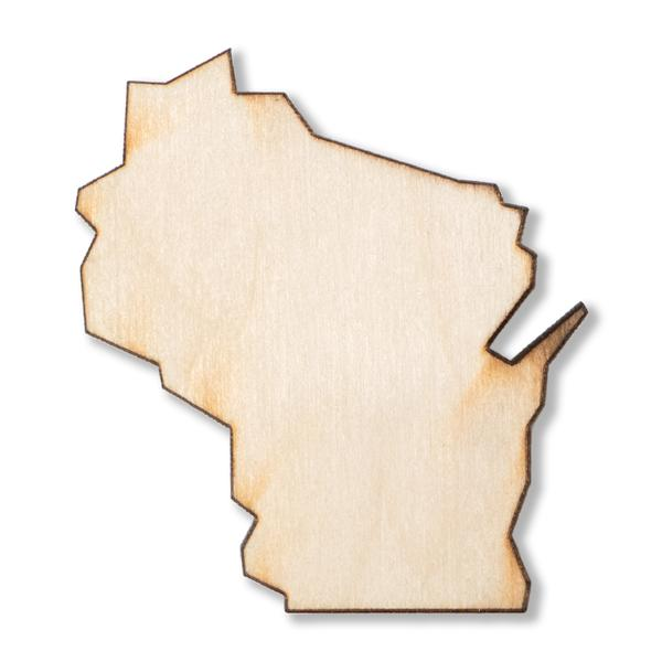 Strictly Discs - Wisconsin Wood Magnet