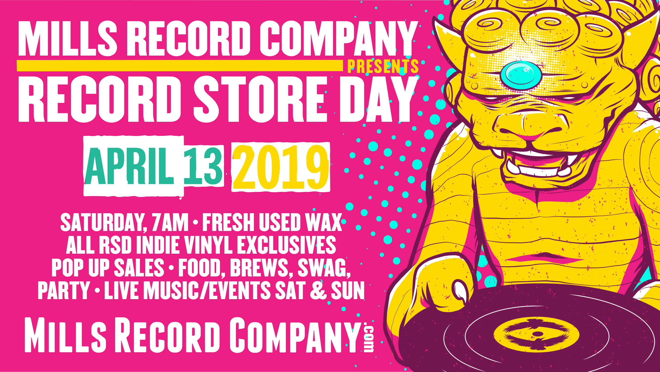 Record Store Day 2019 at Mills Record Company