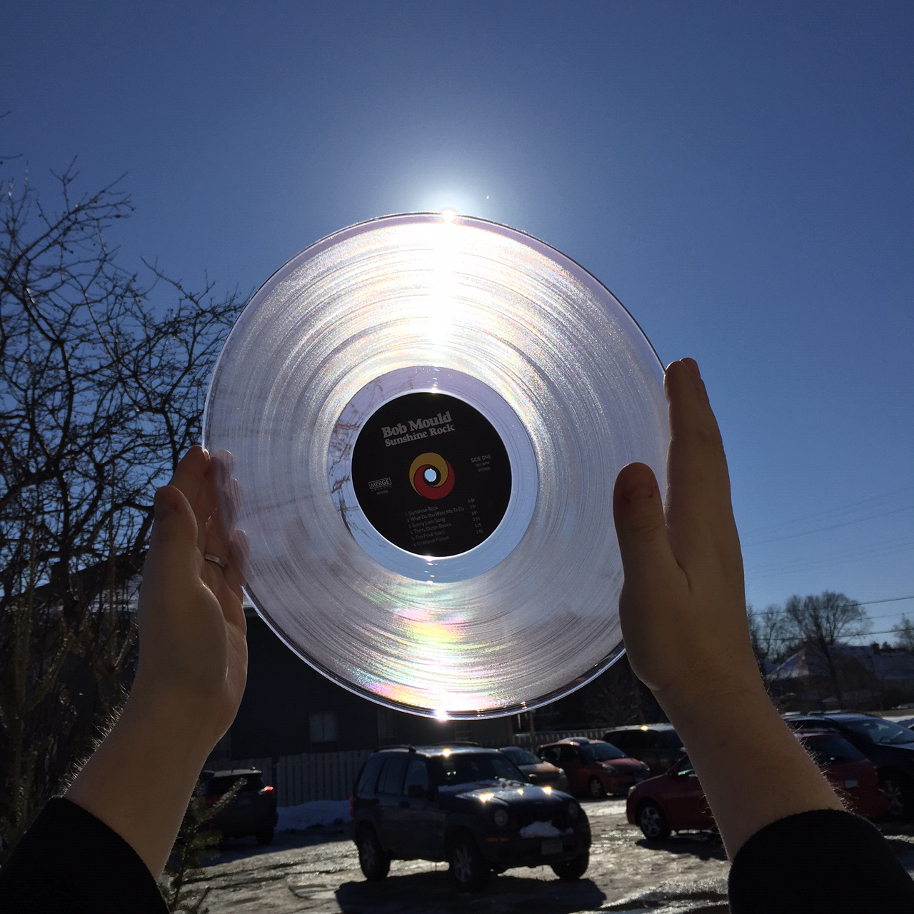 Bob Mould's Sunshine Rock on Clear vinyl available now!
