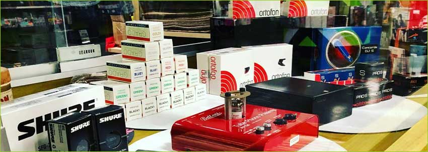 find new cartridges needles preamps accessories stylus ortofon grado shure at darkside records poughkeepsie ny