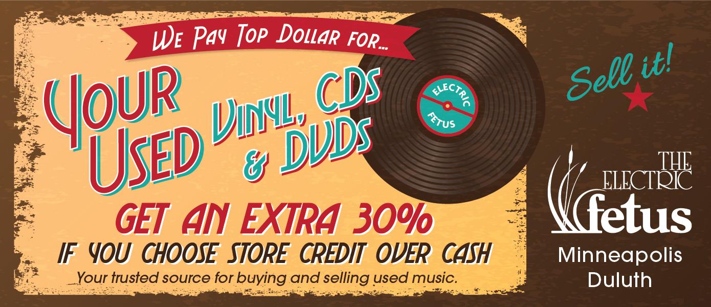 We Buy Used Vinyl, CDs & DVDs | Electric Fetus