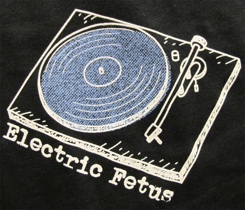 blue record player toddler t-shirt