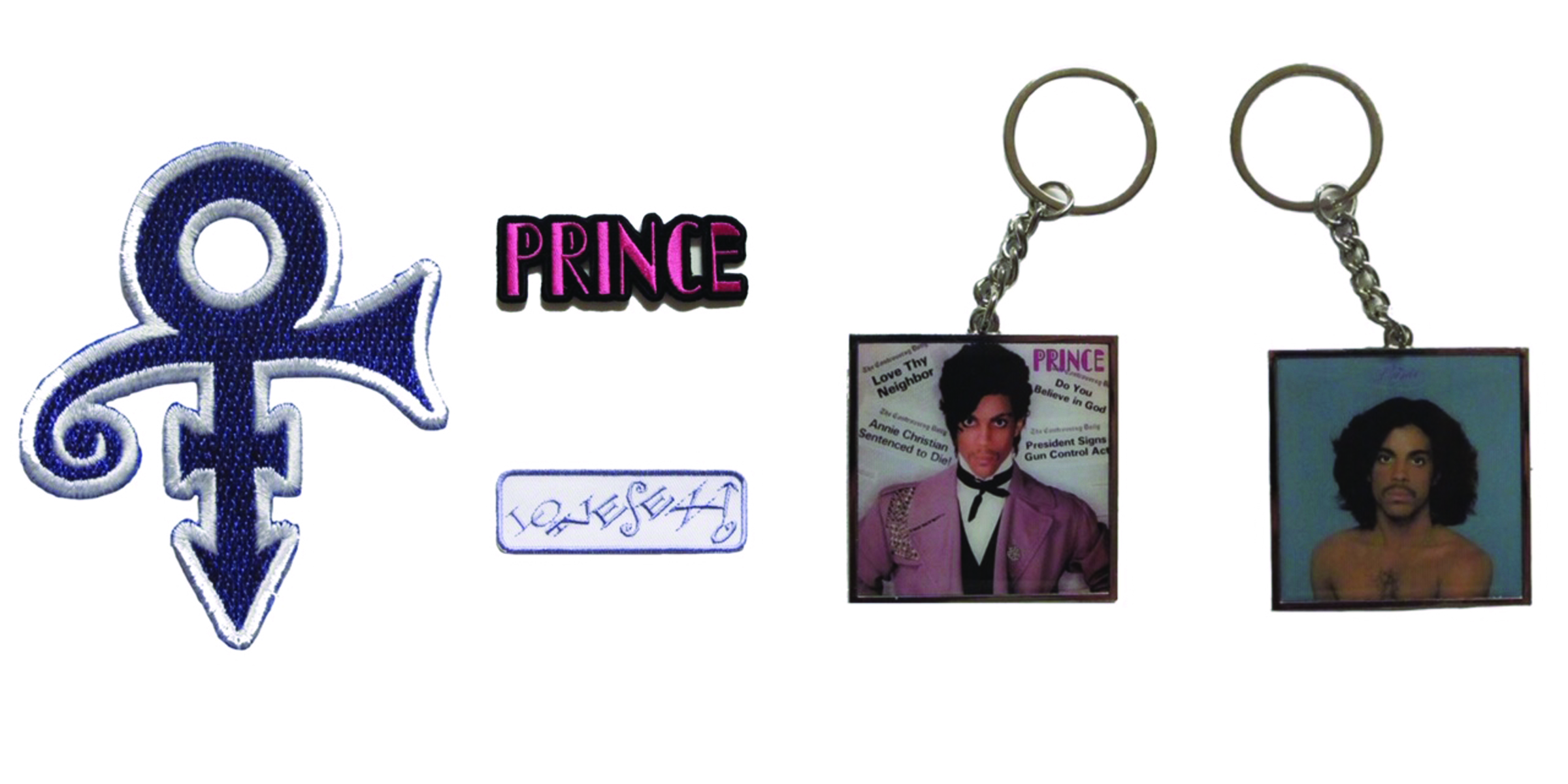 Prince Patches and Keychains