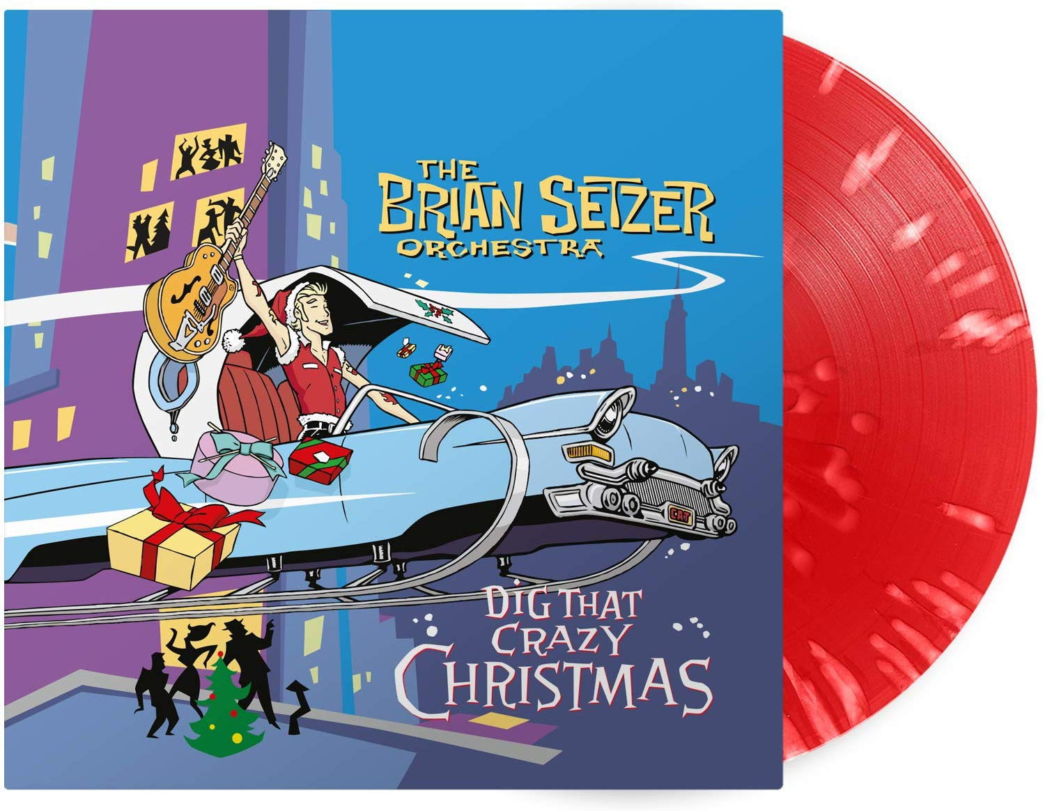 The Brian Setzer Orchestra - Dig That Crazy Christmas [Red & White Splatter LP]