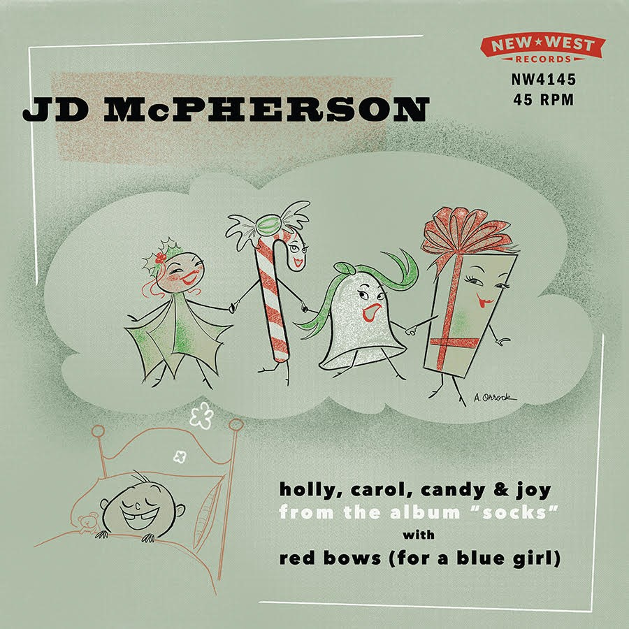"JD McPherson - ""Red Bows For A Blue Girl"" / ""Holly, Carol, Candy and Joy"" [RSD BF 2019]"