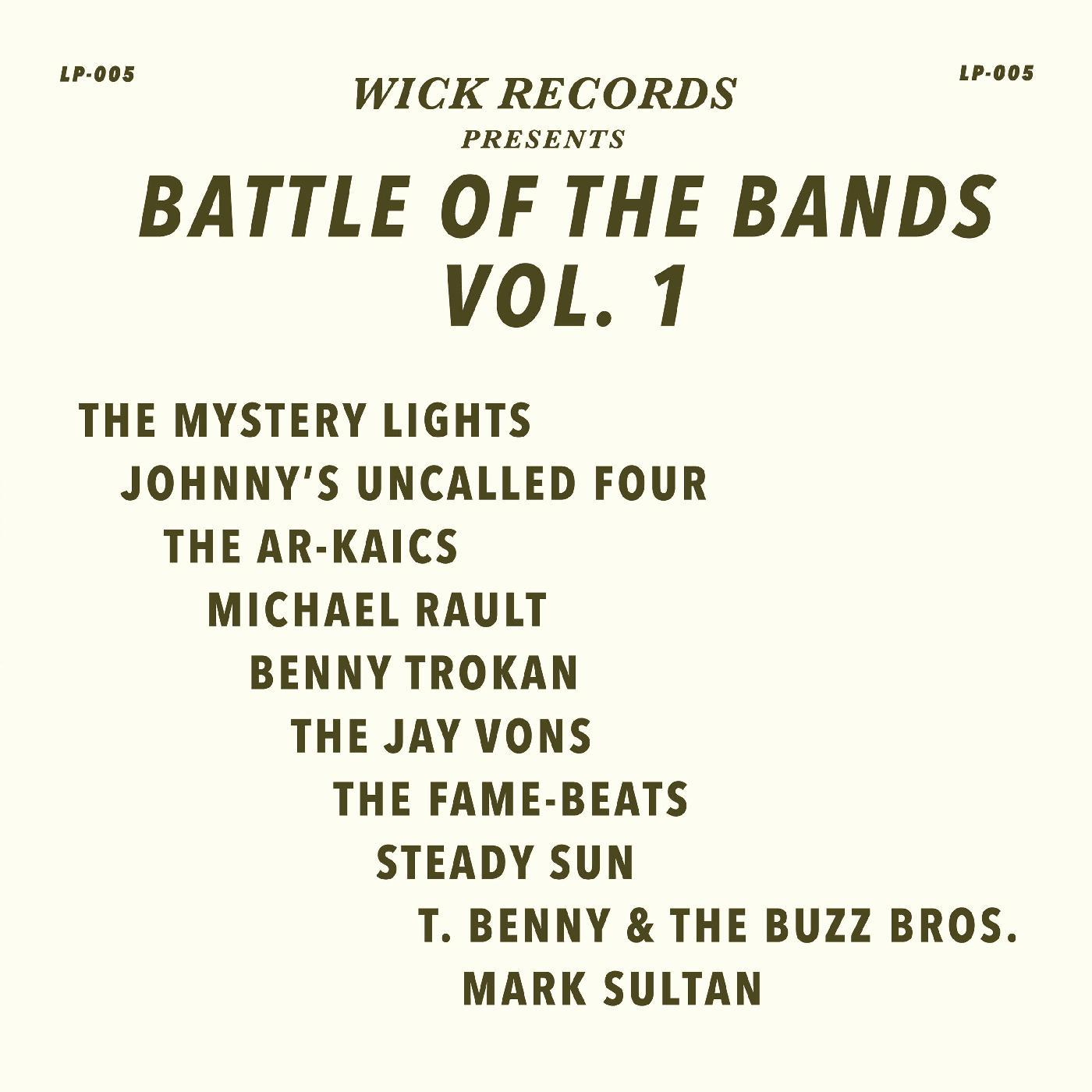 Various Artists - Wick Records Presents Battle of the Bands Vol. 1 [RSD Drops Oct 2020]