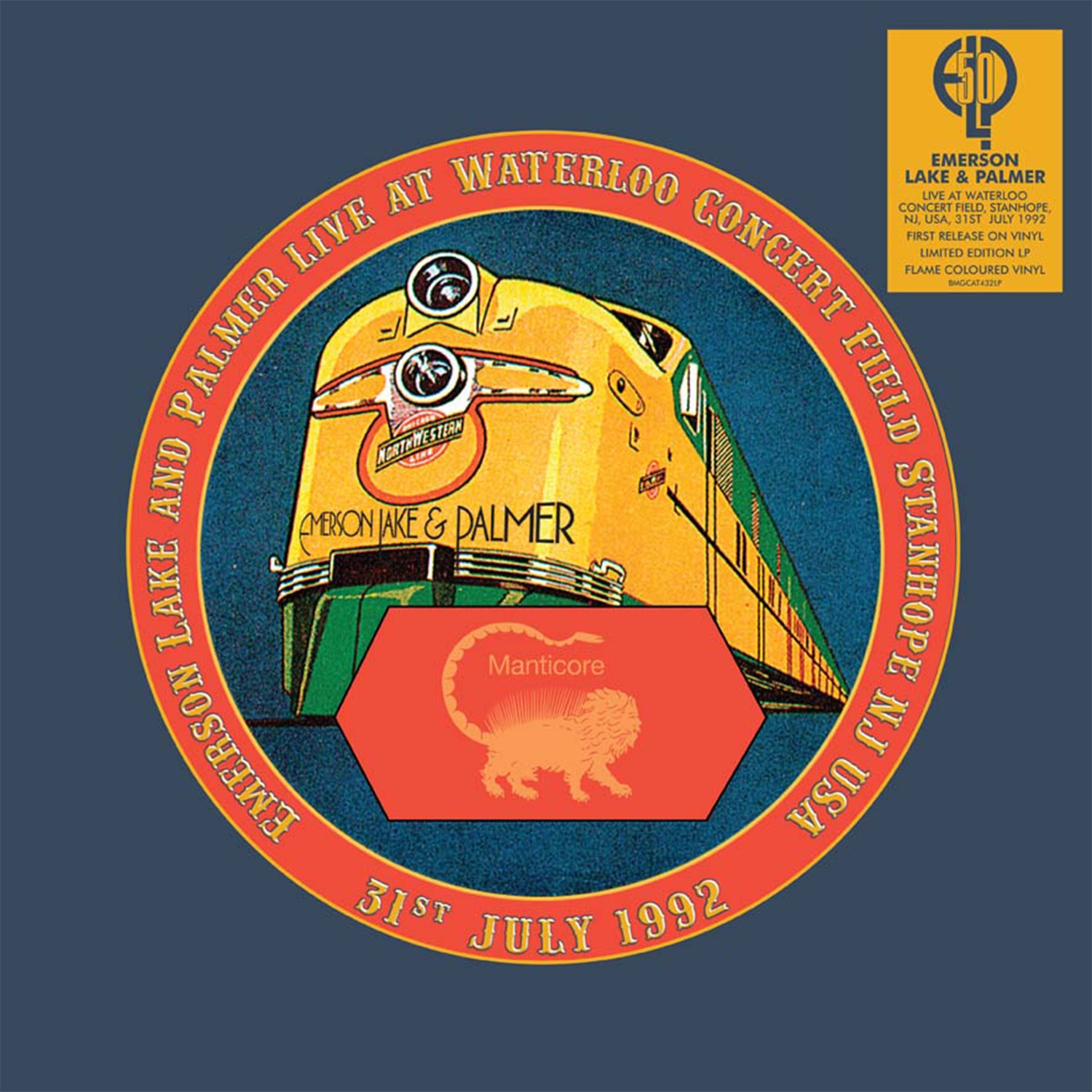 Emerson, Lake & Palmer - Live At Waterloo Field, Stanhope, New Jersey Usa [RSD Drops Aug 2020]