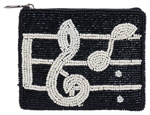 Club Bag - Beaded Music Note Coin Purse