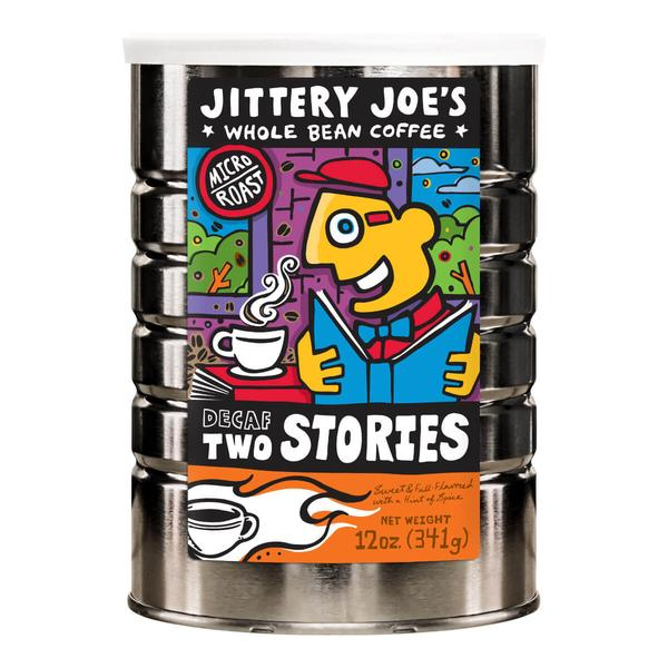 Jittery Joe's Coffee - Two Stories Decaf Can (12 oz)