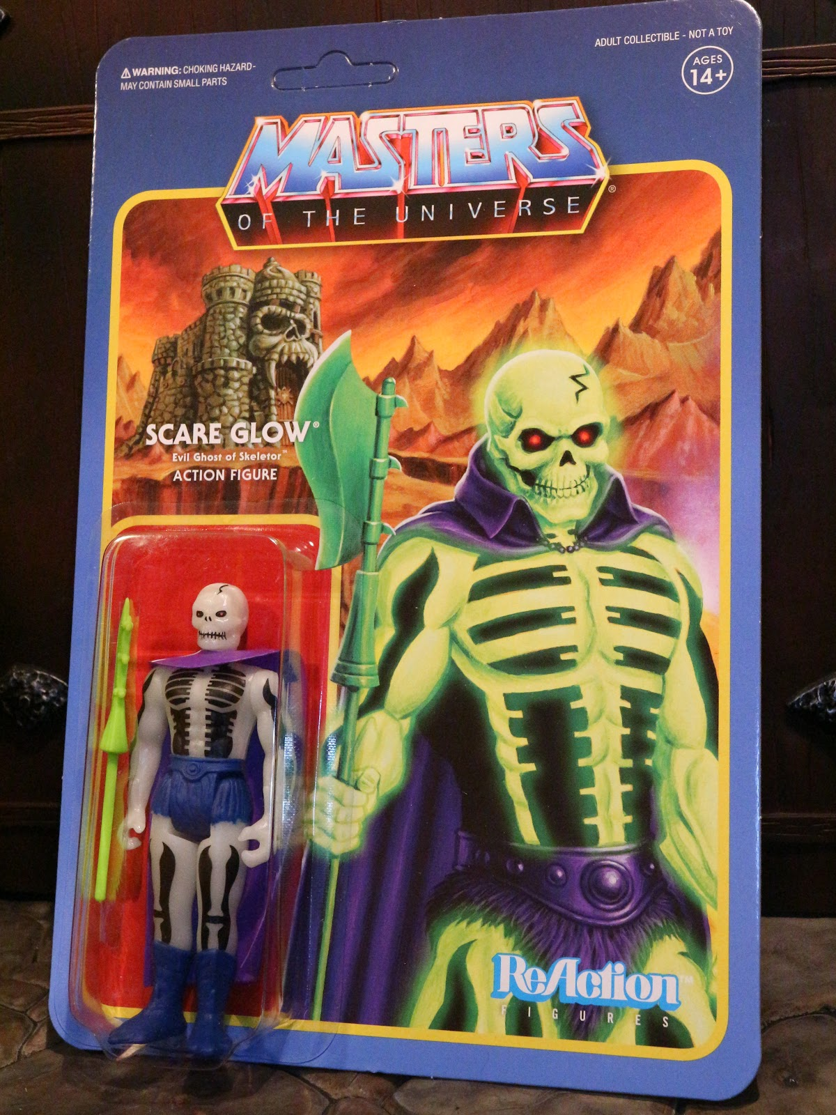 Reaction - MASTERS OF THE UNIVERSE SCARE GLOW REACTION FIGURE