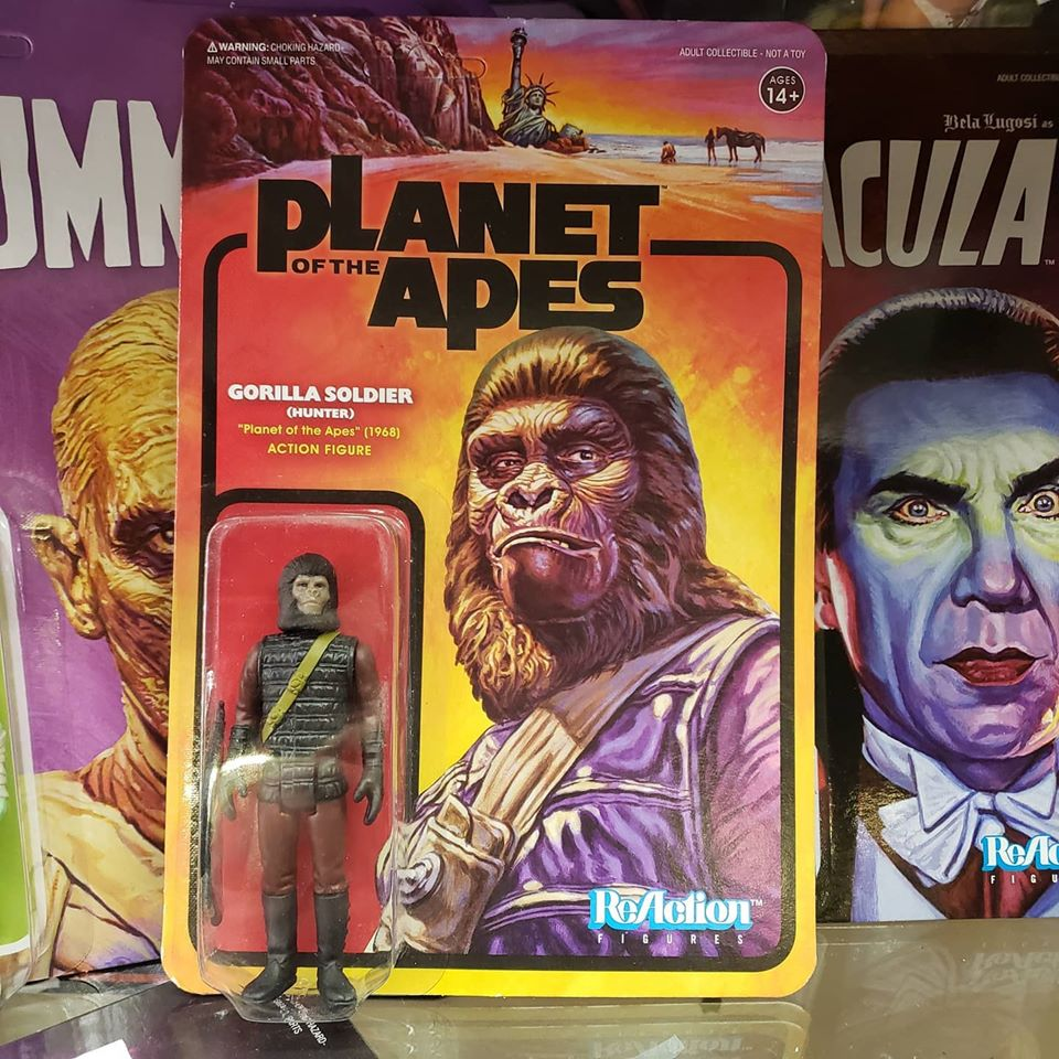 Reaction - PLANET OF THE APES GORILLA SOLDIER HUNTER
