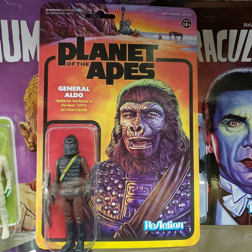 Reaction - PLANET OF THE APES GENERAL ALDO REACTION FIGURE