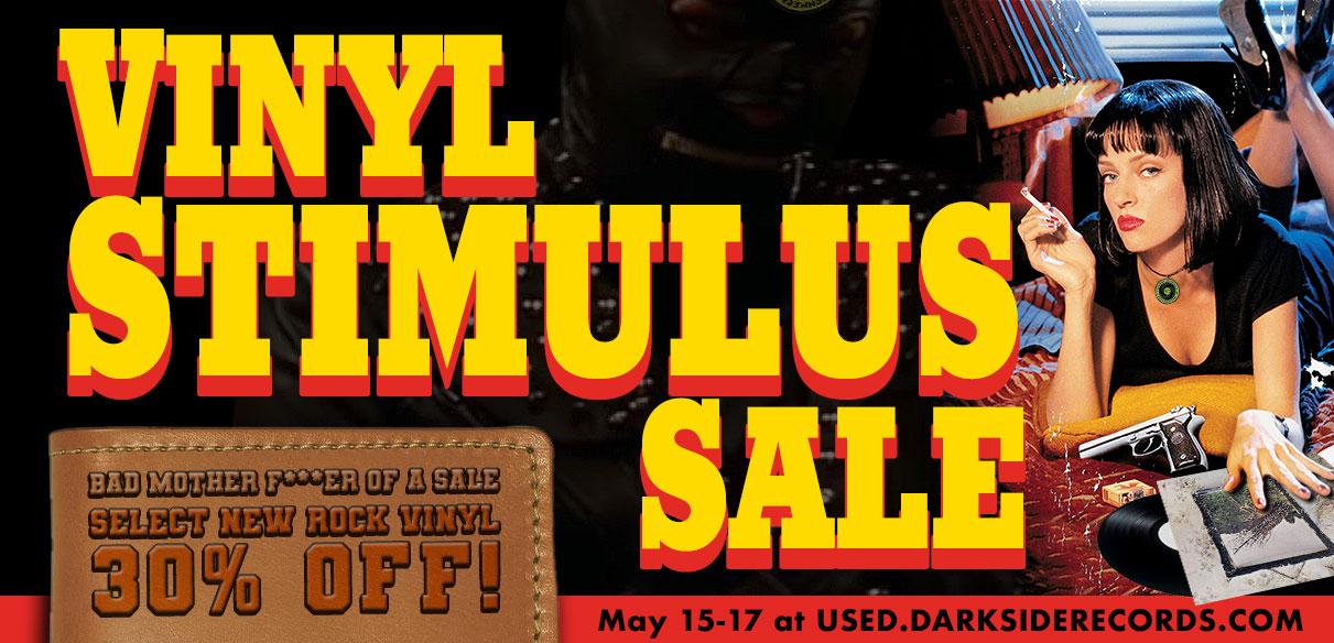 vinyl stimulus sale this weekend on select new records at darkside records poughkeepsie ny