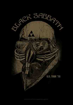 Black Sabbath - BLACK SABBATH NEVER SAY DIE POSTER FLAG