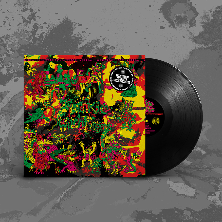 Frankie And The Witch Fingers Monsters Eating People Eating Monsters Deluxe Lp Cover With Uv Reactive Aqueous Gloss Coating Vintage Vinyl